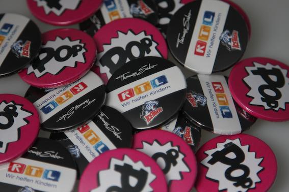 Ansteck-Pins für Events