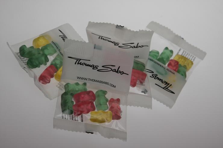 Gebrandete Gummibärchen