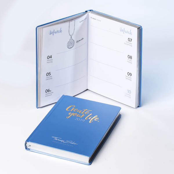 Individuelles Notizbuch mit Kalender