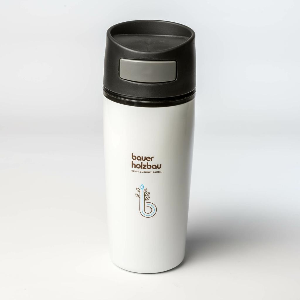 Kaffeebecher mit Gravur und Druck
