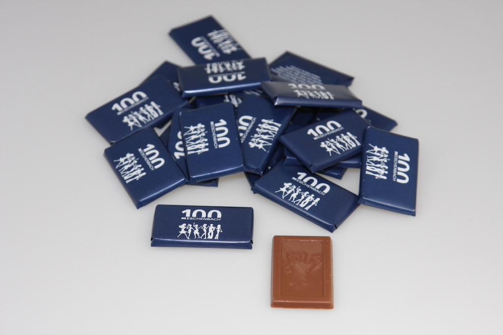 Mini Schokolade im Firmen-CI