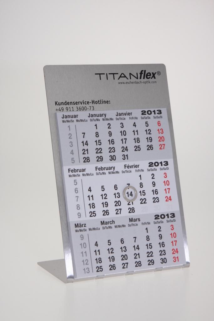 Bedruckter Tischkalender